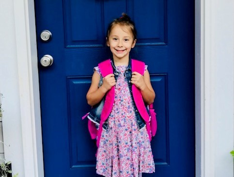 Back to school photo of HHES student