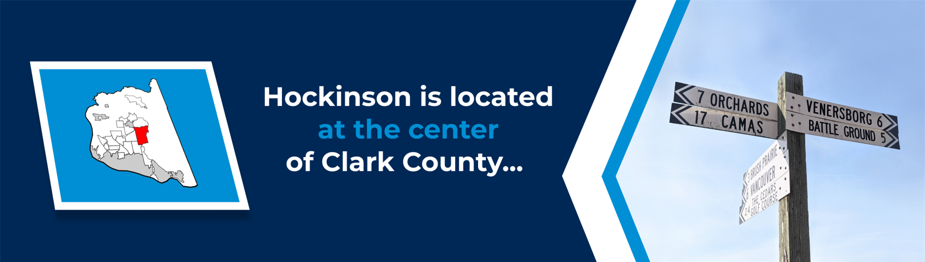 Hockinson is Located at the Center of Clark County